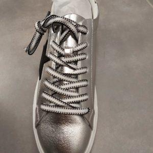 basket argente etoile lacet