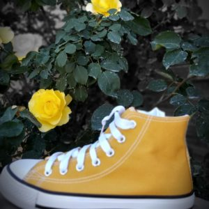 basket converse montante moutarde
