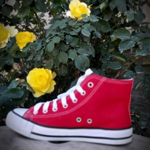 baskete montante converse rouge