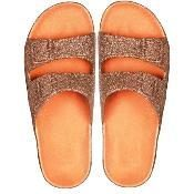 cacatoes sandal trancoso orange paillette