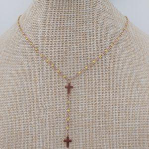 collier gg clozo croix jaune