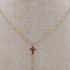 collier gg clozo croix jaune court