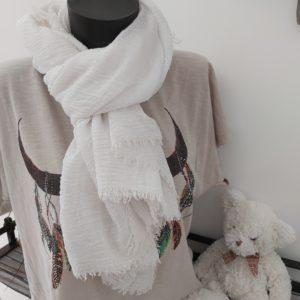 foulard uni blanc