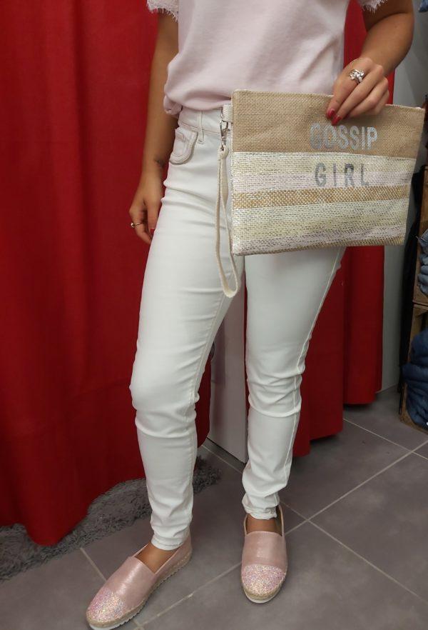 pantalon tiffosi beige pochette