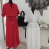 robe blanche et rouge millenium