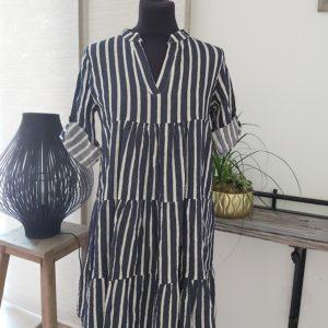 robe carla blanc bleu