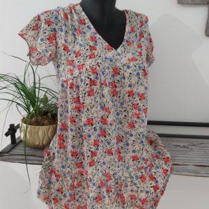 robe courte fluide leger fleur