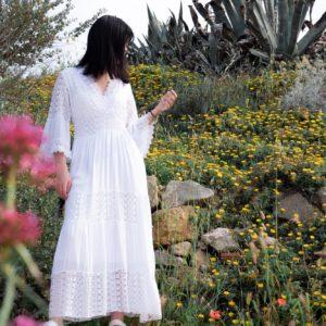 robe dentelle blanche wang