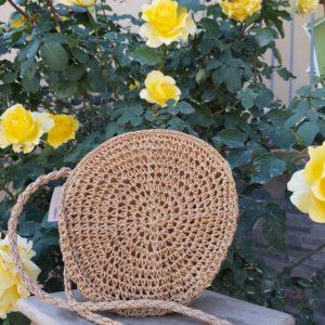 sac corde rond beige crochet