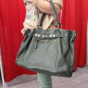 sac cuir kaki kelly