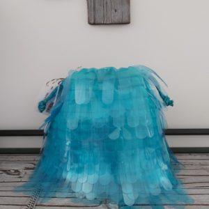 sac franges fluo bleu