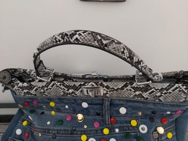 sac jean multicolor fermer