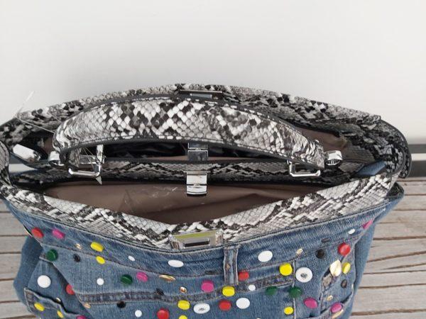 sac jean multicolor ouvert