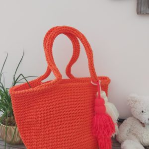 sac rigide crochet orange