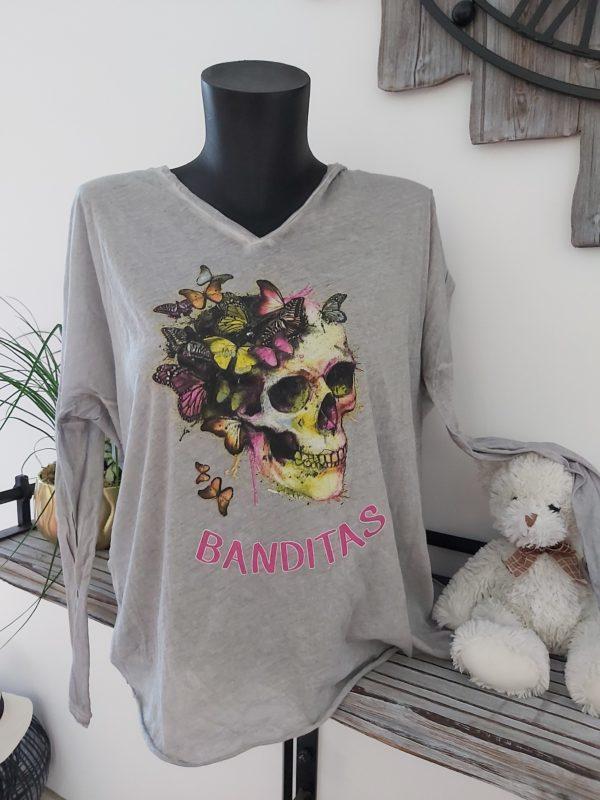 tee shirt banditas gris