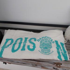 tee shirt banditas poison turquoise