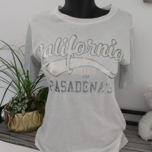 tee shirt california argent