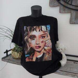 tee shirt noir femme vogue