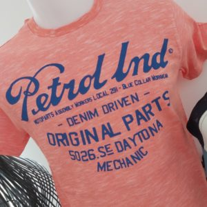 tee shirt orange petrole industries