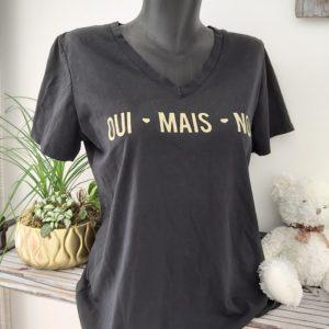 tee shirt oui mais non noir