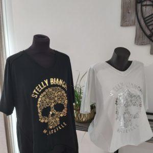 tee shirt stelly bianci noir