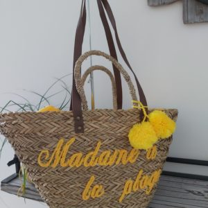 sac de plage jaune