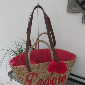 sac de plage rouge