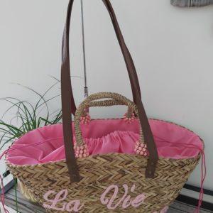 sac de plage rose la vie en rose