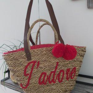 sac de plage rouge j adore
