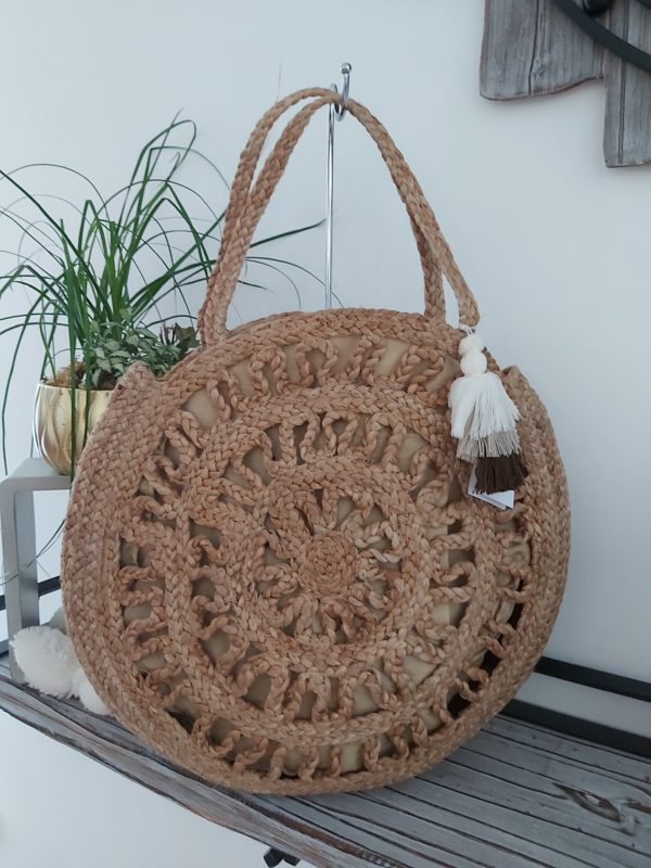 sac rond paille