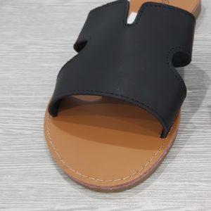 sandales cuir noir
