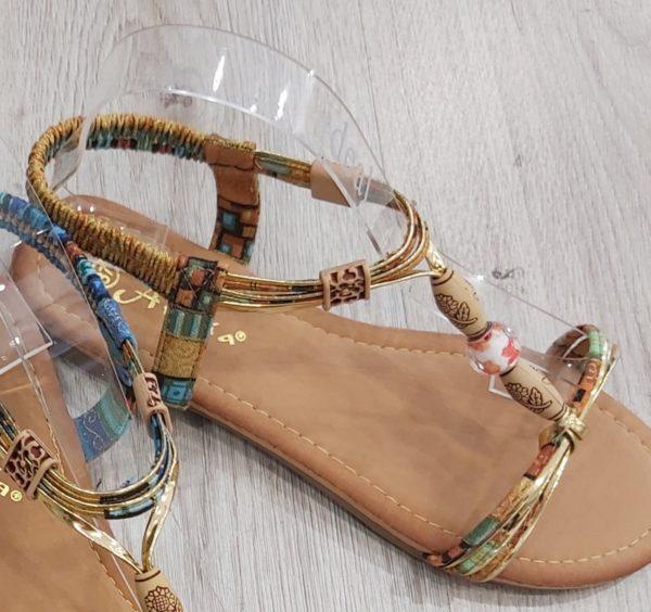 sandales perle beige