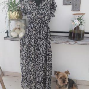 robe fleuri fond noir