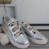 baskets argentees tache leopard blanc scratch