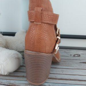 bottine lacet camel taon haut ceinture