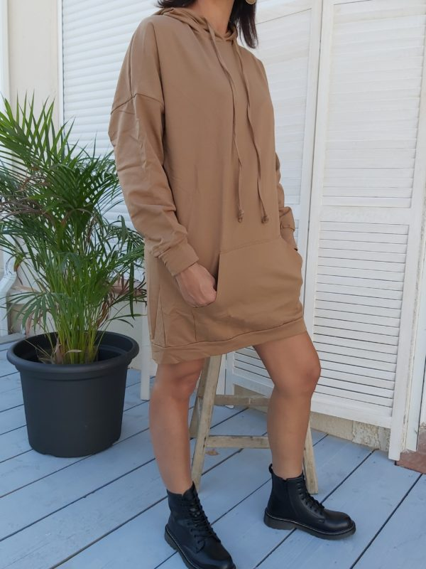 robe capuche maron