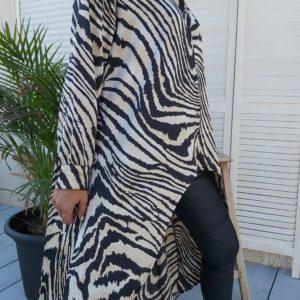 robe tunique noir courte