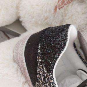basket noir tissus chic mode tendance paillette derriere