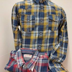 chemise a carreaux jaune ou rouge petrol industry