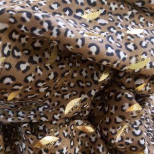 foulard maron doree