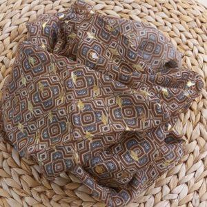 foulard marron
