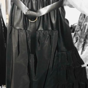 jupe noir simili cuir
