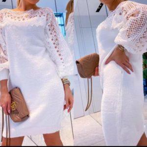robe blanche dentelle 2050