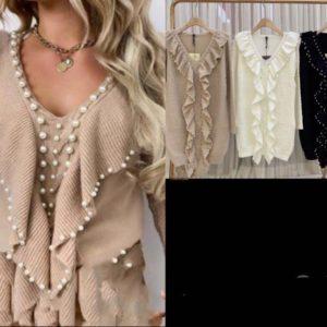 robe perle beige ecru noir