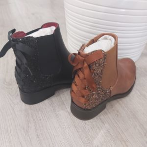 bottine paillette marron ou noir