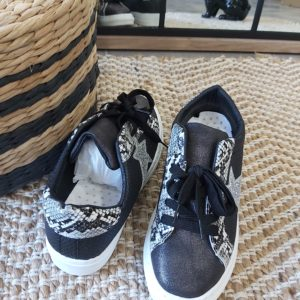 basket noir leopard paille findlay cotz