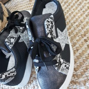 basket noir leopard paillette findlay