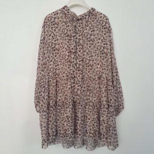 robe courte leopard