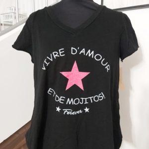 tee shirt mojito noir