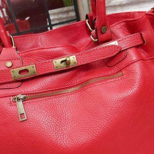 sac cuir bandouliere rouge